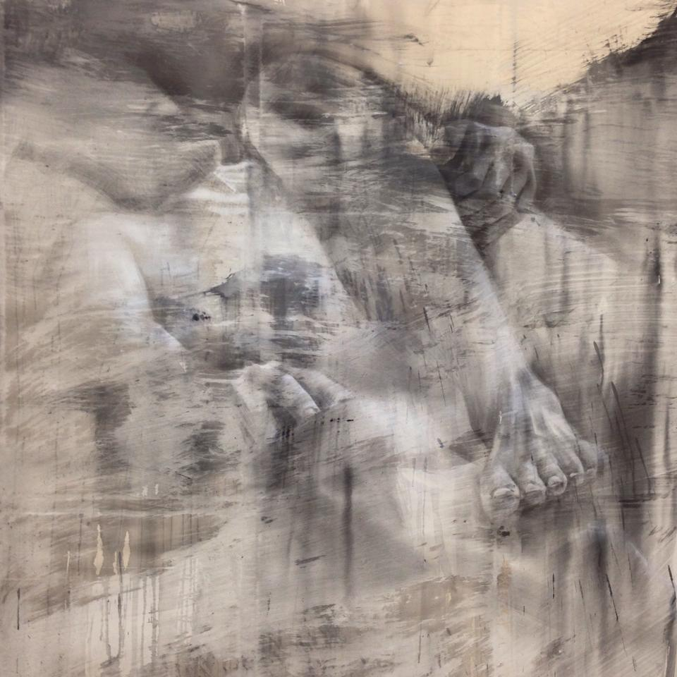 nahodne polozeny, detail, 250x210cm, akryl, 2014