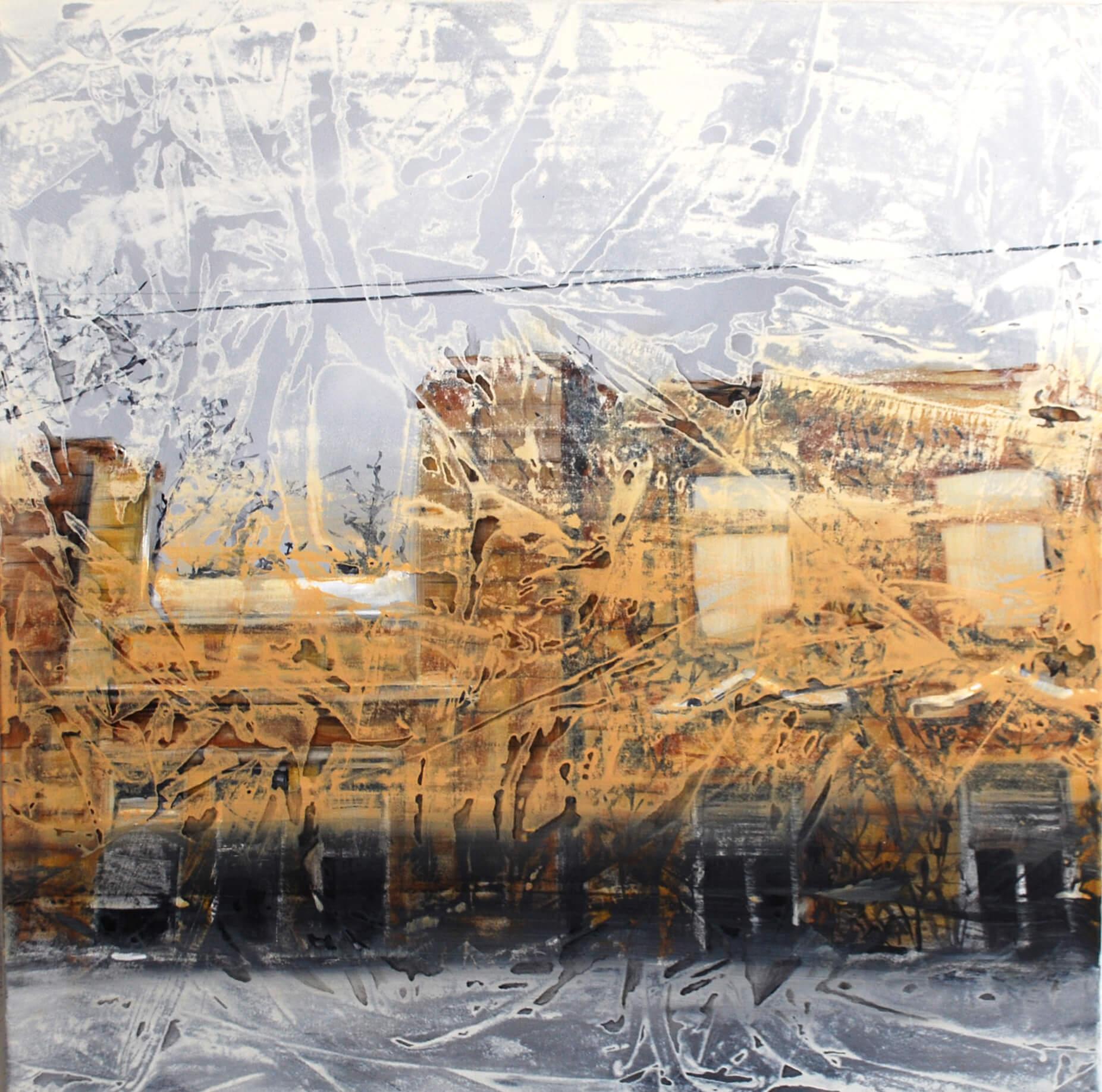 Sklap (Palisády 43) 100 x 100 cm akryl na plátne 2016