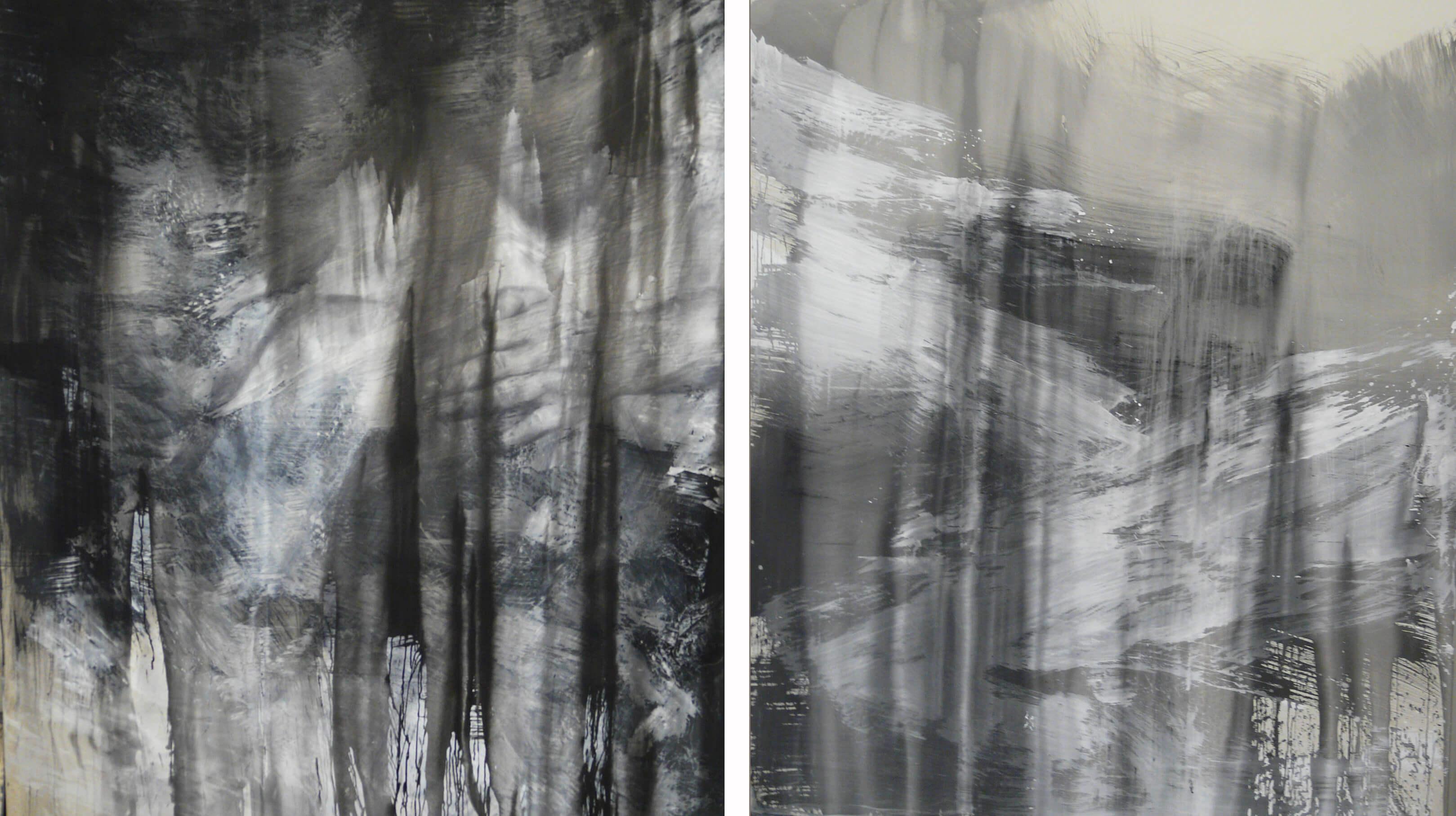 diptych o miere 2x250x210cm, akryl 2014 copy