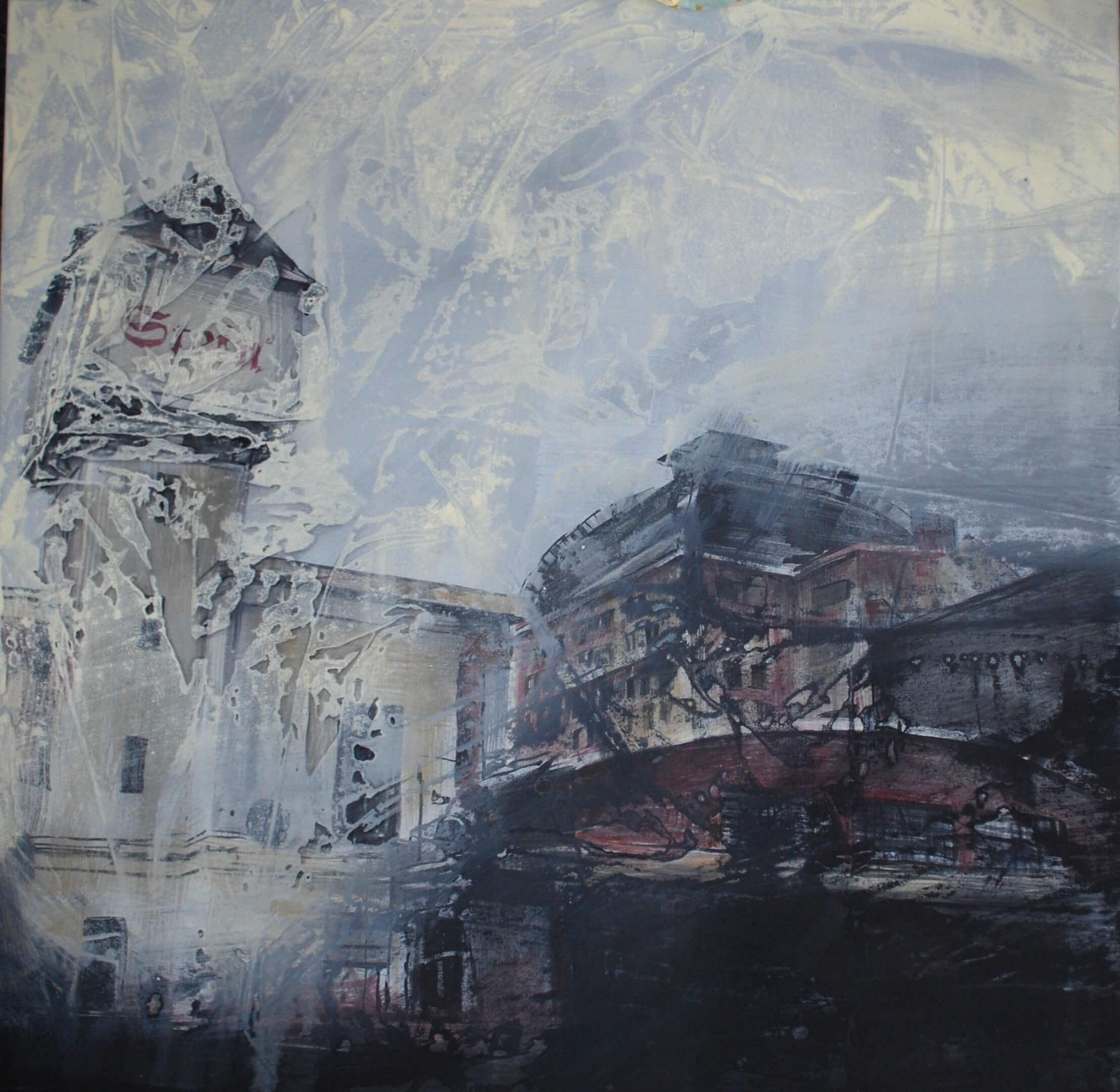 Besnota (Stein) 100 x 100 cm 2016 akryl na plátne