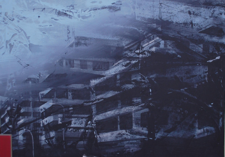 Zamorenie (Zuckermandel) 40 x 60 cm akryl na platne 2016